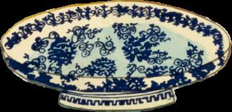 青白陶器の大皿の錦絵素材