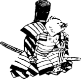 報告中の猫侍の浮世絵イラスト素材