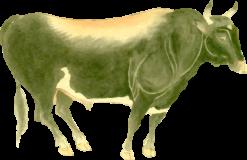 遠江牛の浮世絵無料イラスト素材