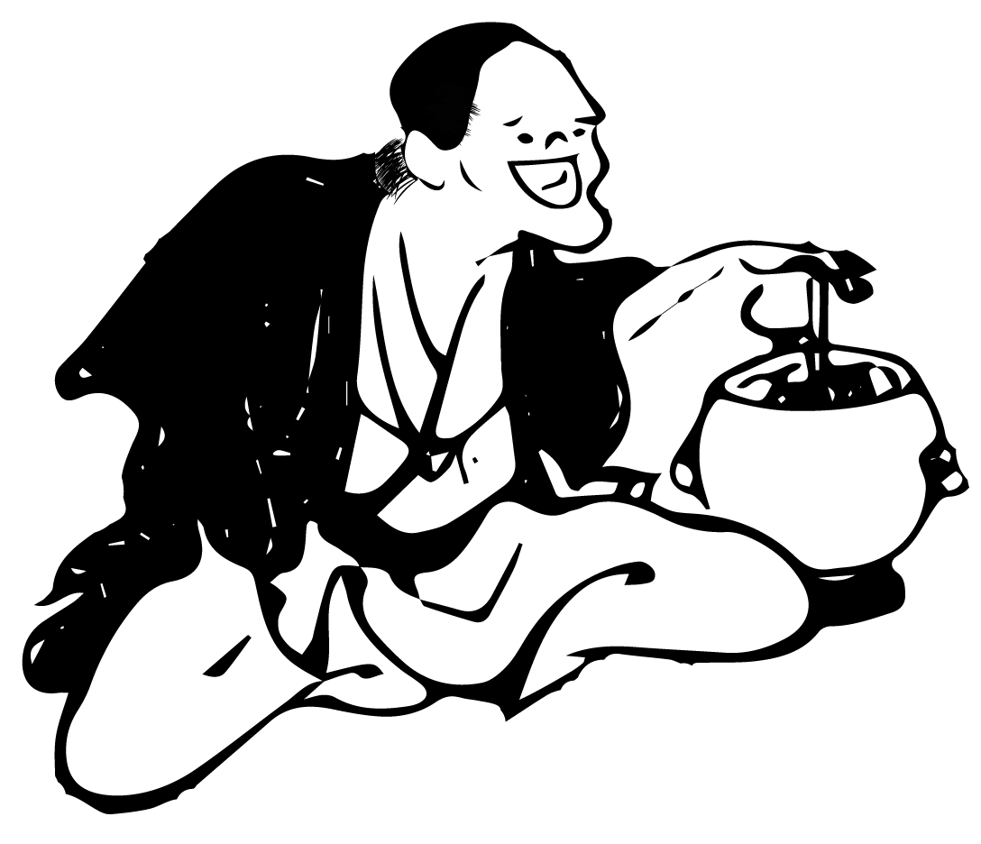 Free ukiyo-e illustration of Laughing man