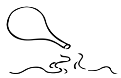 ひょうたんから流れる水のイラスト