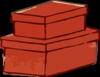 入れ子の木箱の浮世絵ダウンロード素材