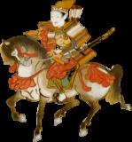 馬に乗る武将の浮世絵ダウンロード素材