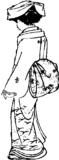 Rear view of woman – Freebie PNG