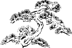 松の木の浮世絵フリー素材