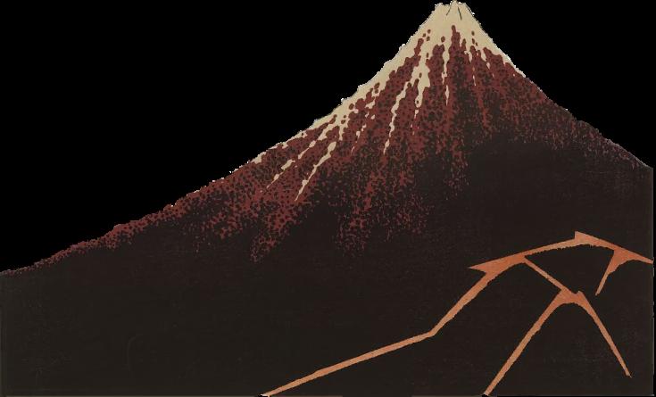 Free graphic material of Fugaku sanjurokkei_hakuu