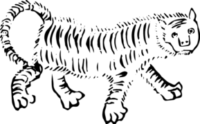 ヘタウマ?謎動物:騶虞(すうぐ) のフリーイラスト素材