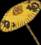 Free ukiyo-e item of A yellow Japanese umbrella (Hanjimono: Akasaka)
