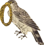 Free ukiyo-e item of A hawk with a bundle of rope in its mouth (Hanjimono:Takanawa)