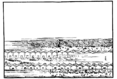 江戸の風景画:小舟町の浮世絵フリー素材
